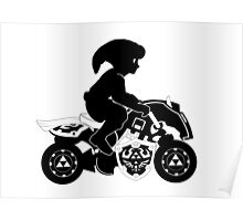Mario Kart 8 - Master Cycle Silhouette  Poster