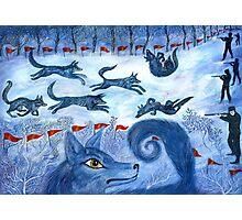 Hunting the wolf- Охота на волков Photographic Print
