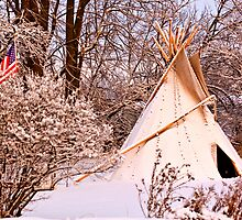 Native American ~ Winter Camp by Tim Denny