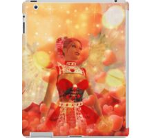Valentine background with cupid 2 iPad Case/Skin