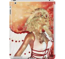 Valentine background with cupid 3 iPad Case/Skin