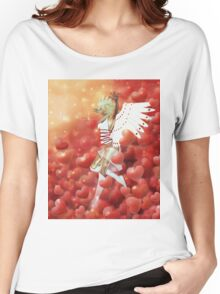 Valentine background with cupid 4 Women's Relaxed Fit T-Shirt