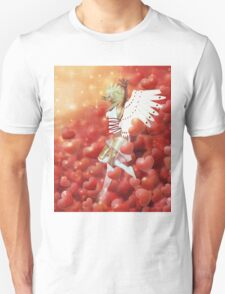 Valentine background with cupid 4 Unisex T-Shirt