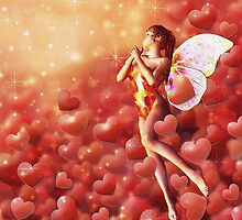 Valentine background with fairy by AnnArtshock