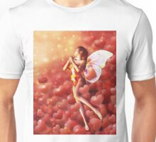 Valentine background with fairy Unisex T-Shirt
