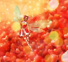 Valentine background with fairy 2 by AnnArtshock