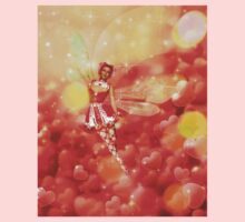 Valentine background with fairy 2 Kids Clothes