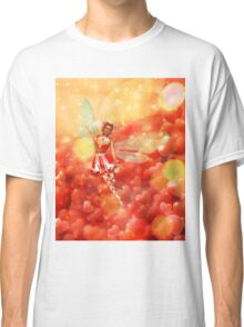 Valentine background with fairy 2 Classic T-Shirt