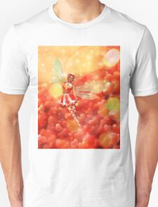 Valentine background with fairy 2 Unisex T-Shirt