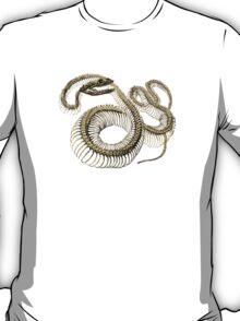 antique typographic vintage snake skeleton T-Shirt