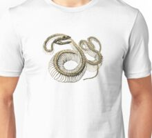 antique typographic vintage snake skeleton Unisex T-Shirt