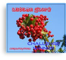 Autumn Glory - Challenge Winner Banner Canvas Print