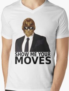 Captain Falcon in Formal Attire 2 Mens V-Neck T-Shirt