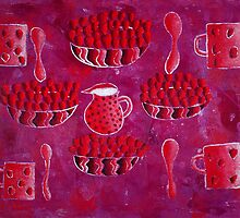 Strawberries and Cream by Julie Nicholls