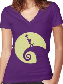 Circle of Fright Women's Fitted V-Neck T-Shirt