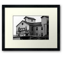 Lehi Roller Mills Framed Print