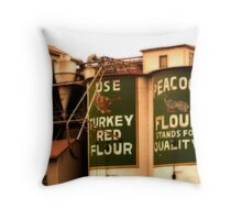 Peacock Flour Throw Pillow
