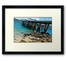 On The Rocks - Day Dream Island, Queensland Australia Framed Print