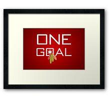 One Goal Framed Print