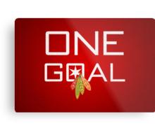 One Goal Metal Print
