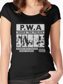 Shuck Tha Police Women's Fitted Scoop T-Shirt