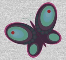 Abstract colorful butterfly Kids Clothes