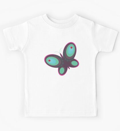Abstract colorful butterfly Kids Tee