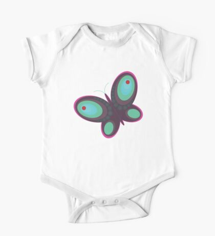 Abstract colorful butterfly One Piece - Short Sleeve