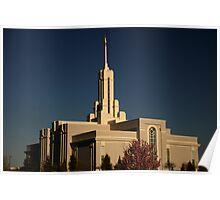 Mt. Timpanogos Temple, American Fork, Utah Poster