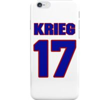 National football player Dave Krieg jersey 17 iPhone Case/Skin