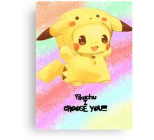 Pikachu i choose you!  Canvas Print