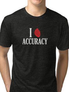 I Heart Accuracy Tri-blend T-Shirt