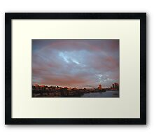 A Bit Of Help From  Above  - Sydney Harbour Rainbow Framed Print