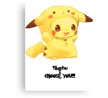 Pikachu i choose you!  with out background  Canvas Print
