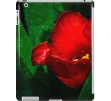 Red Tulip Green Leaves iPad Case/Skin