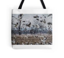 Double Snowstorm Tote Bag
