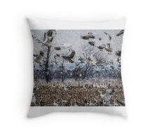 Double Snowstorm Throw Pillow
