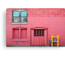 Pink•Off Whyte Canvas Print
