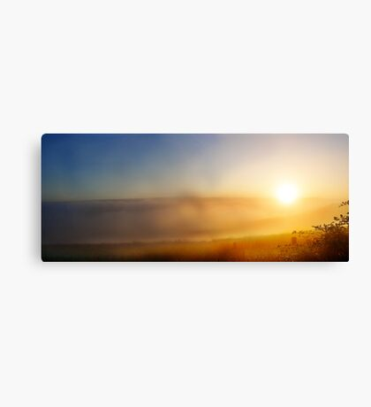 Sun rise in the clouds Canvas Print