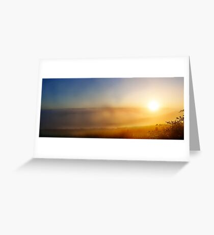 Sun rise in the clouds Greeting Card