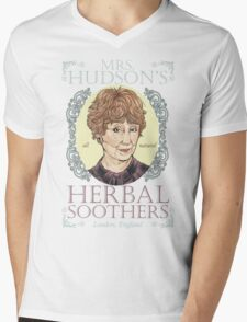 Mrs. Hudson's Herbal Soothers Mens V-Neck T-Shirt