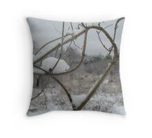 Winter Strikes Throw Pillow