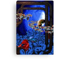 Swimming Through the Sewers of My Mind DE Canvas Print