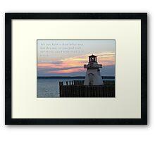 Matthew 5:16 Framed Print