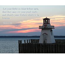 Matthew 5:16 Photographic Print