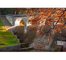 late Autumn sun streaming through the Dam Photographic Print