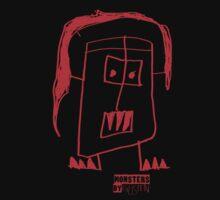 Monsters By Gusten #5 RED Kids Tee