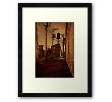 NIGHT AND SAND Framed Print