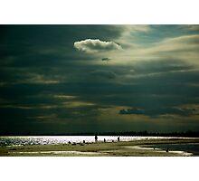 Beach silhouettes Photographic Print