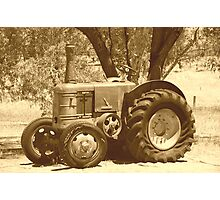 Olde man tractor Photographic Print